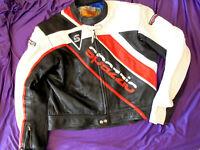 Spazzio Komine Herren Bikerjacke Motorrad Lederjacke Leatherjacket Gr 54 L XL