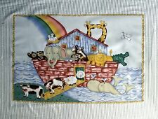 Noahs Ark Rainbow Baby Juvenile Quilt top Panel Fabric Cotton Craft Sew