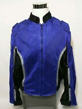 Mens PILOT Motorcycle Royal Blue Racing Jacket w Pads Size XL