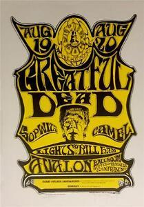 Frankenstein Grateful Dead Stanley Mouse Alton Kelley Hand Signed Lithograph