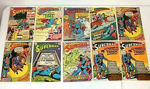 10 lot Silver Age SUPERMAN Comics 179 181 190 210 211 211 213 214 215 215 217