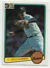 Doyle Alexander Signed 1983 Donruss Baseball Card #451 New York Yankees