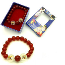 New One Piece Portgas·D· Ace Cosplay Stone Bracelet Costume Red Bead Bracelet