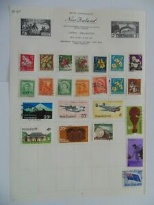 PA 410 - Page Of Mixed New Zealand Stamps