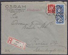 Dr im nº 374, 357 MIF empresas R-Carta Leipzig Osram GmbH-Berlín 1926