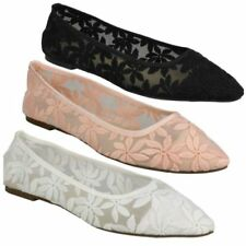Pointed Toe Floral Textile Flats for Women