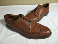 Vintage Florsheim Imperial 93602 Brown Leather Wingtip V-Cleat 5-Nail Shoes 11 B