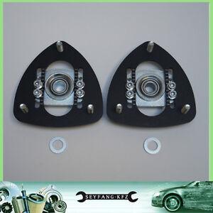 Regolabile Supporto Ammortizzatore Cuscinetto di Uniball Set VA BMW E30 E28 E34