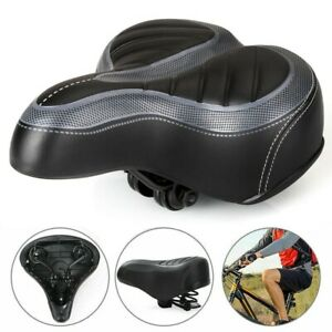 WIDE EXTRA COMFY BIKE BICYCLE COMFORT CRUISER SPORTY SOFT PAD SADDLE SEAT BLACK