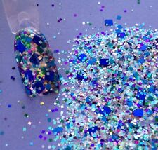 glitter mix acrylic gel nail art Limited   CUBED