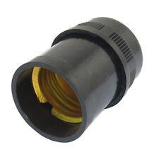 SODIAL(R) Douille E27 noir plastique Goutte Lumiere Titulaire de la lampe a O4W8