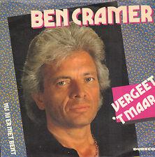 """BEN CRAMER – Vergeet 't Maar (1991 VINYL SINGLE 7"""")"""