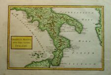 Antique Map of Southern Italy by Christoph Cellarius 1789