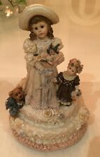 Boyds Bears Resin Emily W/ Kathleen Music Box 272052 Wedding Dollstone Bride