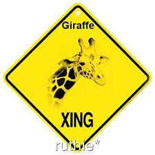 Giraffe Crossing Xing Sign New Made in USA