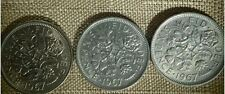 """3- Coins - Sixpence For Wedding or Charm - """"Something Old Something New"""""""