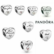 Genuine Silver Pandora Heart Charm ALE S925 & With Gift Box Best Christmas Gifts