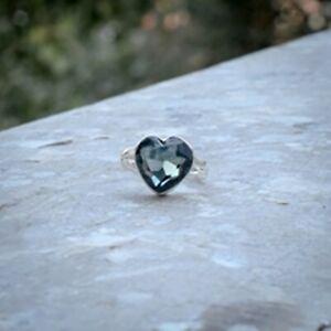 Fantastic Black Spinel Gemstone 925 Sterling Silver Handmade Ring All Size