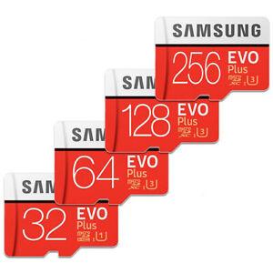 SAMSUNG EVO PLUS micro SD Memory Card 256GB 128GB 64GB 32GB 100MB/s LOT 4K C10 U
