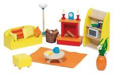 Goki 51904 - Mobili per Casa delle Bambole salotto 24 Teile