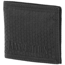 Maxpedition Agr Bi Fold Wallet Slim Hommes Hex Ripstop Nylon Argent Poche Noir