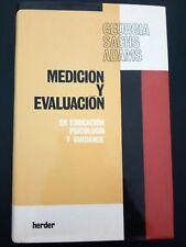 Medicion y Evaluacion en Educacion Psicologia y Guidance por G Sachs Adams 1983