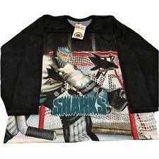Vtg NWT San Jose Sharks Jersey All Over Print Goalie Shirt Ccm 90s Rare XL