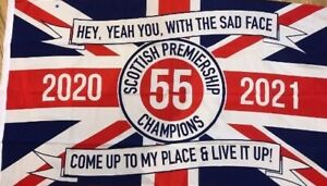 Rangers 55 Champions Flag 5 by 3 ft  (IMMEDIATE DISPATCH, FOR FLAG DAY MAY 15 )