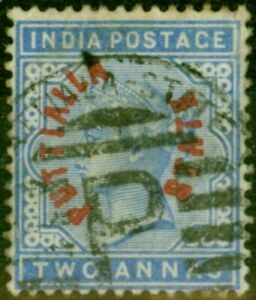 Patiala 1884 2a Dull Blue SG3 Fine Used Stamp