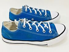Converse All Star Youth 3 Women Sz 5 Blue Canvas LowTop Sneakr Shoe Lace Up c14