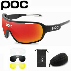 POC bike polarized Sports Sunglasses cycling glasses riding goggles with 4 lens