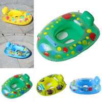Kids Baby Seat Swimming Swim Ring Pool Aid Trainer Beach Float Inflatable NEW~