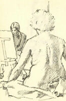 Maurice Feild (1905-1988) - Early 20th Century Pen and Ink Drawing, Two Studies
