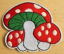 Fliegenpilz Aufbügler / Aufnäher mushroom fly amanita iron-on patch Pilz Kinder