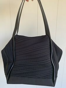 Issey Miyake Pleats Please Handbag Tote  Black New