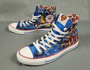 Converse Chuck Taylor Superman Man Of Steel Sneakers Shoes Size 8 Mens 10 Womens