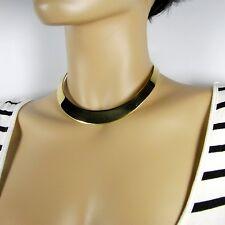 Tolle moderne Halsspange Halsreif Halsschmuck aus goldfarbenem Edelstahl