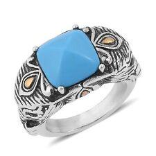 BLUE HOWLITE ELEPHANT RING 6 #size6rings #sizesixrings #rings #ring #elephants