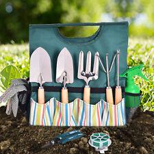 10 Piece Garden Tool Bag Gardening Kit Gardeners Organizer Plant Hand Tools Set