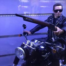 ZY Toys 1/6  Black Motorbike Motorcycle For  DX10 DX13 T800 Terminator New