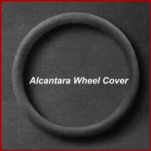 Universal 38cm Non-slip Black Suede Alcantara Leather Car Steering Wheel Cover