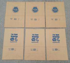 Lot of 6 old Vintage Kroger grocery store brown Bag Food advertisement bag 1983