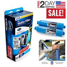 2 Pack Camco RV Water Filter Inline Camping Caravan Drink Safe Clean Taste Pure