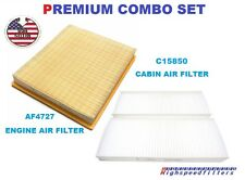 AF4727 C15850 AIR FILTER & CABIN AIR FILTER COMBO FOR 2004 - 2015 NISSAN TITAN