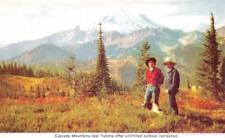 YAKIMA, WA Washington    COWBOYS & DOG In CASCADE MOUNTAINS   c1950's Postcard
