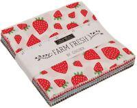 "Farm Fresh Moda Charm Pack 42 100% Cotton 5"" Precut Fabric Quilt Squares"
