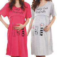 New Nursing Dresses Pregnancy Bathrobe Clothes Maternity Pajamas Sleepwear Gowns
