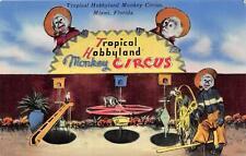 TROPICAL HOBBYLAND MONKEY CIRCUS MIAMI FLORIDA ADVERTISING POSTCARD (c. 1950s)