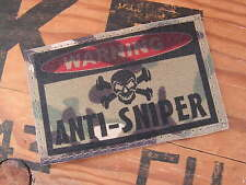 SNAKE PATCH ..:: WARNING ANTI-SNIPER ::.. AIRSOFT PAINTBALL US MULTICAM