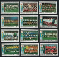 Central African Rep. World Cup Football Championship Spain 1982 12v 1981 ** MNH